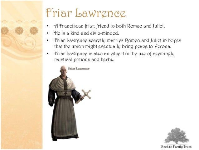 the involvement of friar lawrence the capulet family and the prince with the death of the lovers in  There are many people responsible for the death of romeo and juliet and some of these characters are tybalt, capulet and friar lawrence in the play, tybalt has a large influence on the death of romeo and juliet.