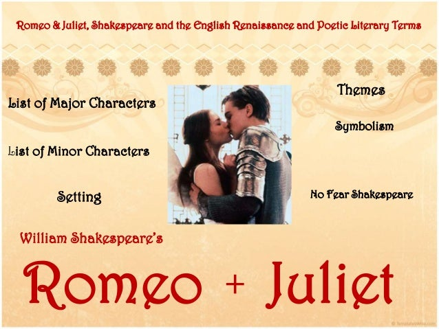 major and minor characters in romeo and juliet