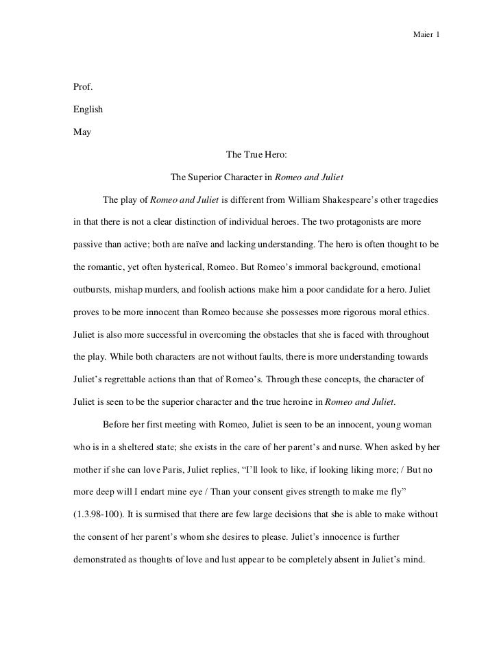 Introduction for romeo and juliet love essay