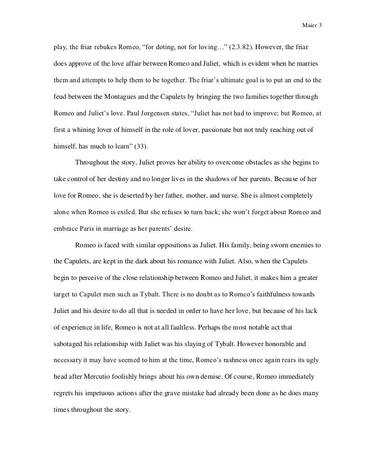 essay about friar lawrence