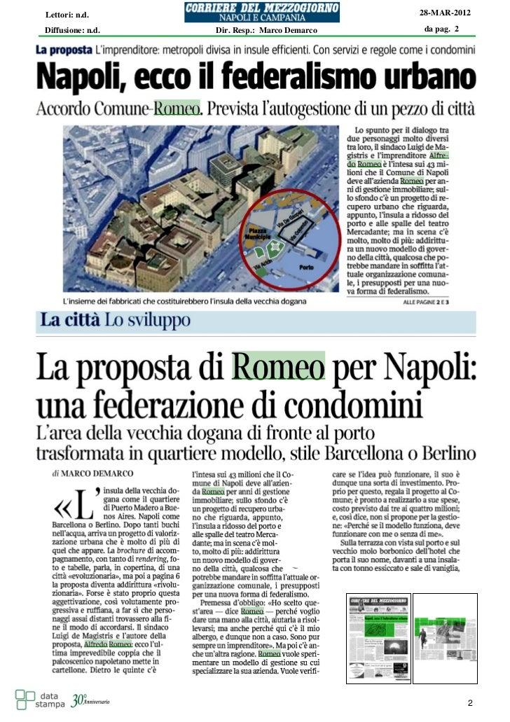 Lettori: n.d.                                  28-MAR-2012Diffusione: n.d.   Dir. Resp.: Marco Demarco   da pag. 2        ...