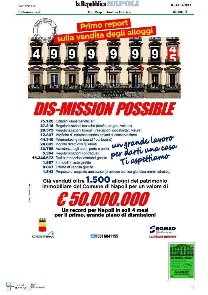 Lettori: n.d.                                      07-LUG-2012Diffusione: n.d.   Dir. Resp.: Giustino Fabrizio   da pag. 8...