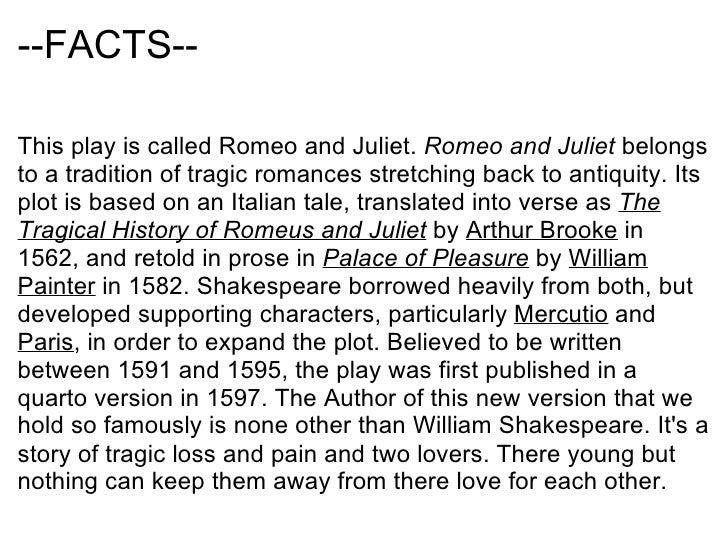 what is romeo and juliet all about