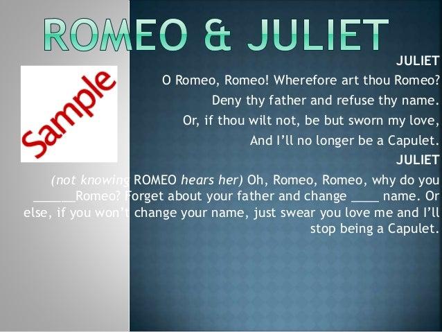 what does o romeo romeo wherefore art thou romeo mean