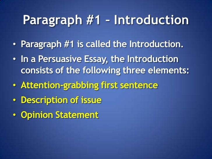 elements of a persuasive letter