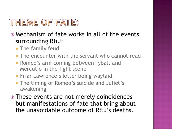 romeo and juliet thesis statements