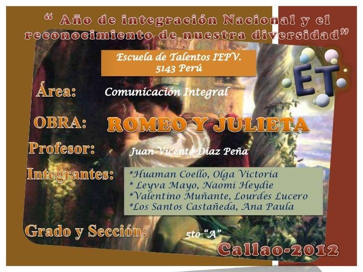 Escuela de Talentos IEPV.          5143 PerúComunicación Integral    Juan Vicente Díaz Peña    *Huaman Coello, Olga Victor...