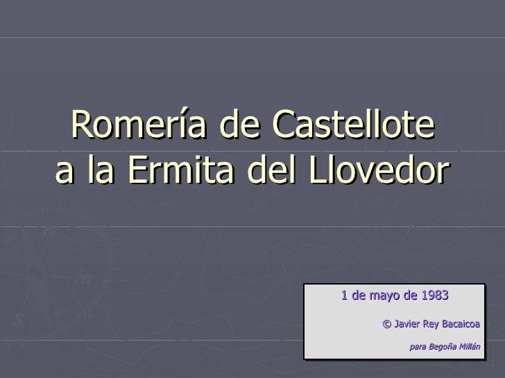 Romería de Castellote a la Ermita del Llovedor 1 de mayo de 1983 ©  Javier Rey Bacaicoa para Begoña Millán