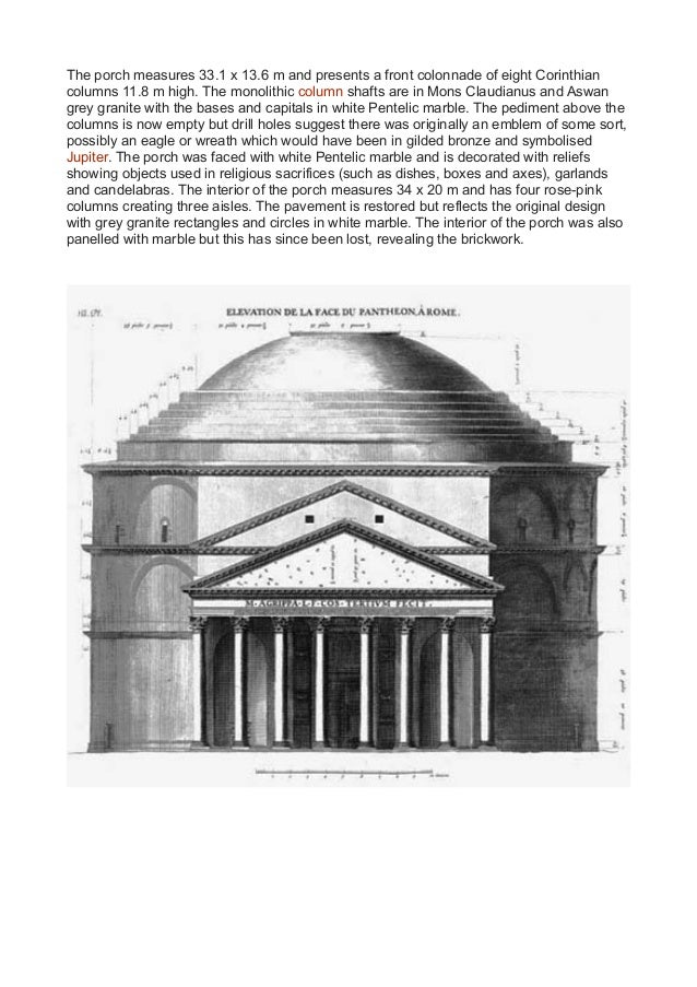 pantheon rome essay The wonder that is the pantheon stephanie schexnayder course: art 444 instructor: irene nero essay type: critical research introduction and history the pantheon in rome is widely regarded as one of the most important buildings in.