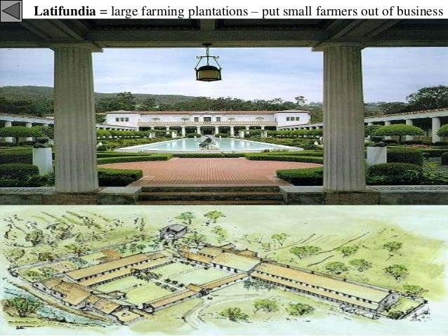 what are latifundia