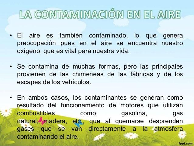 Contaminaci n en el medio ambiente for Como purificar el aire contaminado