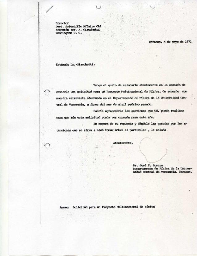 Proyecto Multinacional de Física: Interacción sobe la fase adsorbida de José Enrique Romero ante la OEA