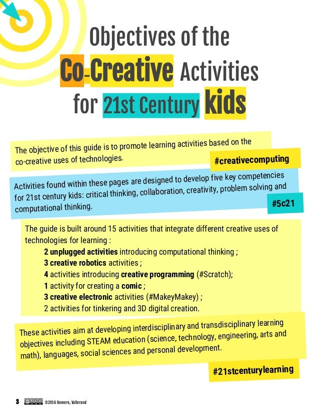 Romero Vallerand 2016 Co Creative Activities For The 21st Century