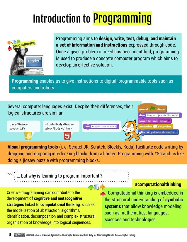 … but why is learning to program important ? Several computer languages exist. Despite their differences, their logical st...
