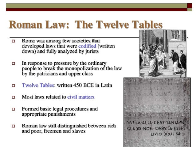 an analysis of the twelve tables code of laws and its effects The twelve tables essay examples an analysis of the twelve tables code of laws and its effects an analysis of the three major phases undergone in the.