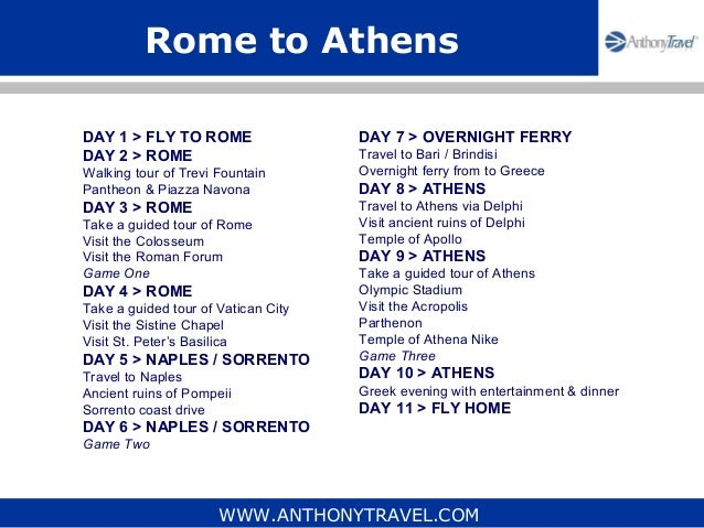 how to travel from rome to athens