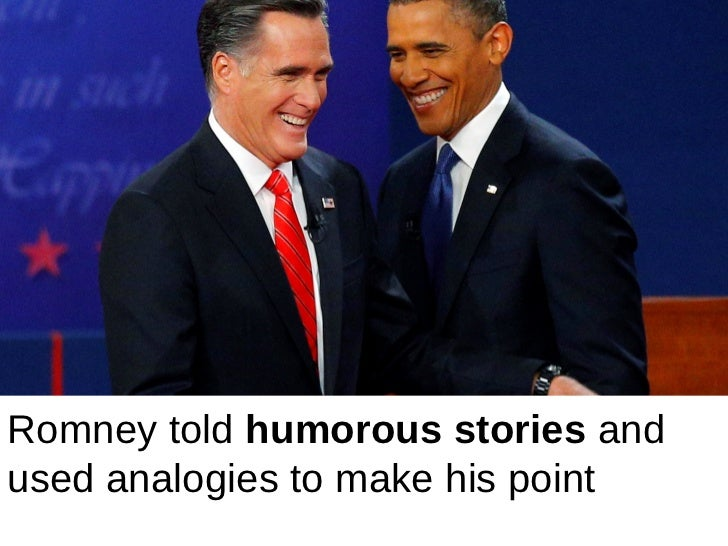 Romney used the example of his five kids tomake a humorous point that Obama was like   a child who wasn't telling the truth…