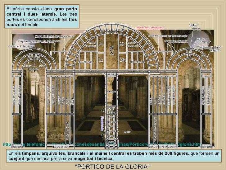 En els  timpans ,  arquivoltes, brancals i el mainell central es troben més de 200 figures,  que formen un  conjunt  que d...