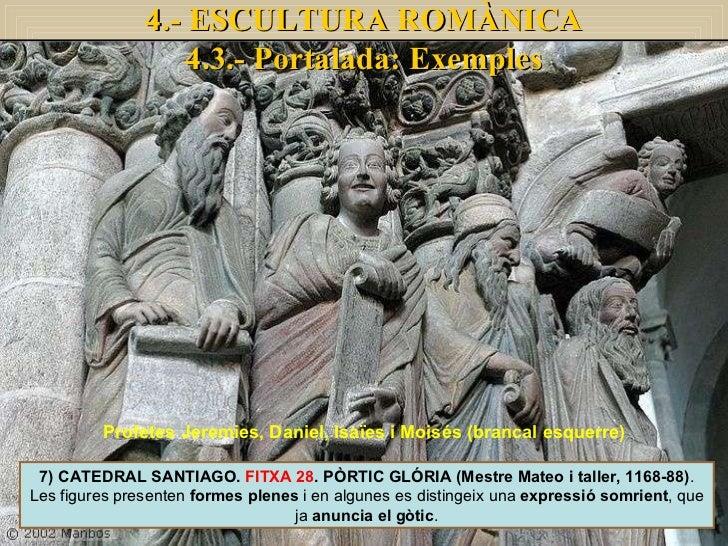 7) CATEDRAL SANTIAGO.  FITXA 28 . PÒRTIC GLÓRIA (Mestre Mateo i taller, 1168-88) . Les figures presenten  formes plenes  i...