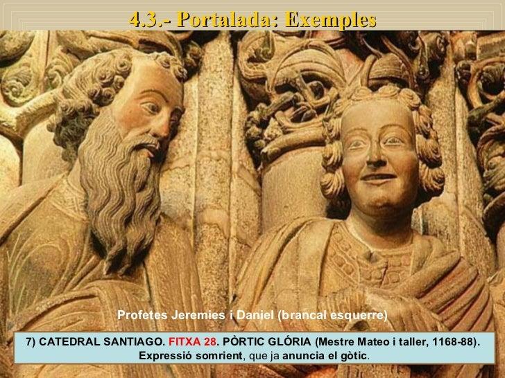 4.3.- Portalada: Exemples 7) CATEDRAL SANTIAGO.  FITXA 28 . PÒRTIC GLÓRIA (Mestre Mateo i taller, 1168-88).  Expressió som...