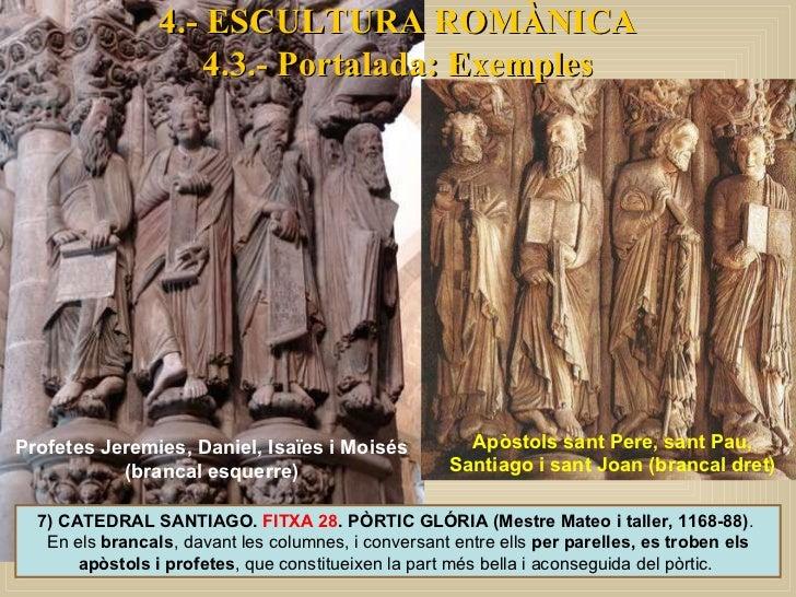 7) CATEDRAL SANTIAGO.  FITXA 28 . PÒRTIC GLÓRIA (Mestre Mateo i taller, 1168-88) .  En els  brancals , davant les columnes...