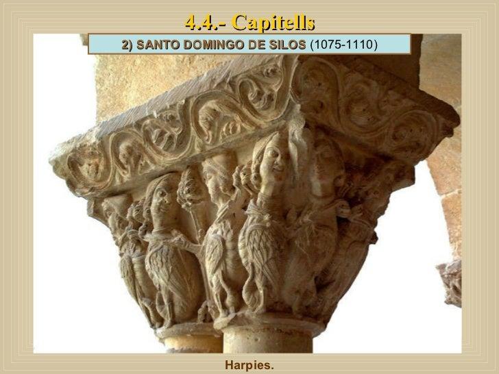 4.4.- Capitells Harpies. 2) SANTO DOMINGO DE SILOS  (1075-1110)