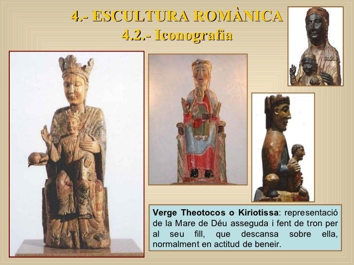 Verge Theotocos o Kiriotissa : representació de la Mare de Déu asseguda i fent de tron per al seu fill, que descansa sobre...