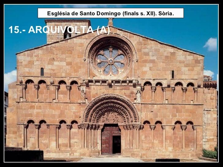 Església de Santo Domingo (finals s. XII). Sòria. 15.- ARQUIVOLTA (A)