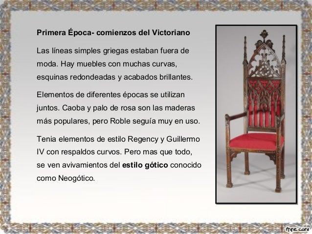 Mueble rom ntico ingl s victoriano for Caracteristicas del mobiliario