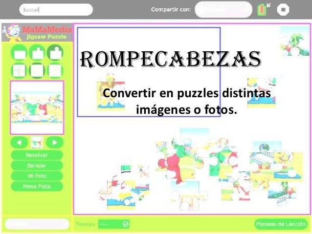 Rompecabezas Convertir en puzzles distintas      imágenes o fotos.