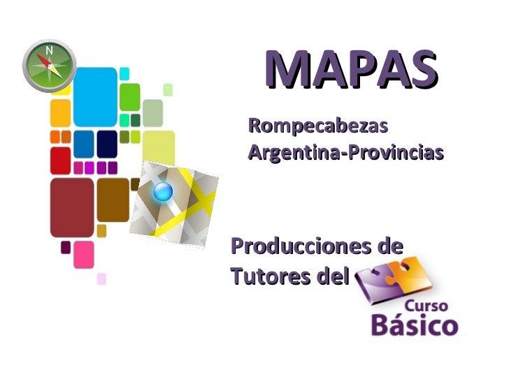 MAPAS Rompecabezas Argentina-ProvinciasProducciones deTutores del