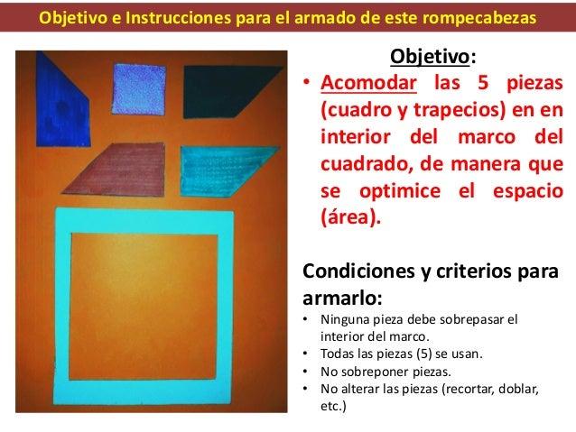 Rompecabezas Matemático para OPTIMIZAR el espacio en un marco