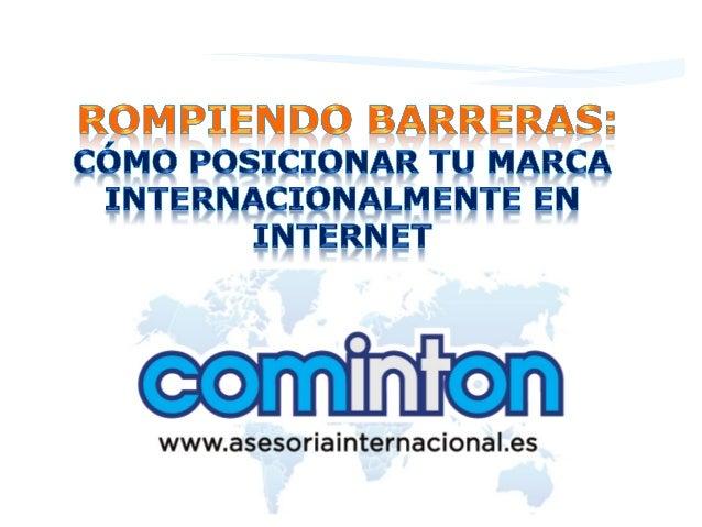 www.asesoriainternacional.es  Carmen Urbano #RiojaEmprende  2  19/11/13