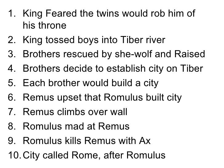 an essay on romulus and remus - romulus and remus as the story goes, romulus and remus were twins, abandoned by their mother as babies, and put into a basket which was placed into the tiber river the basket landed and the twins were discovered by a female wolf.