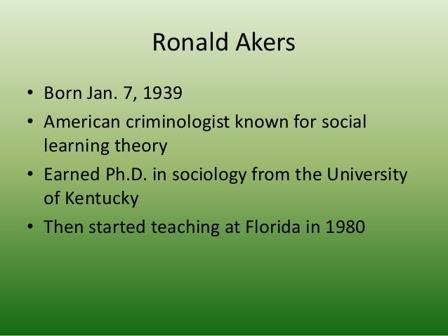 social learning theory akers