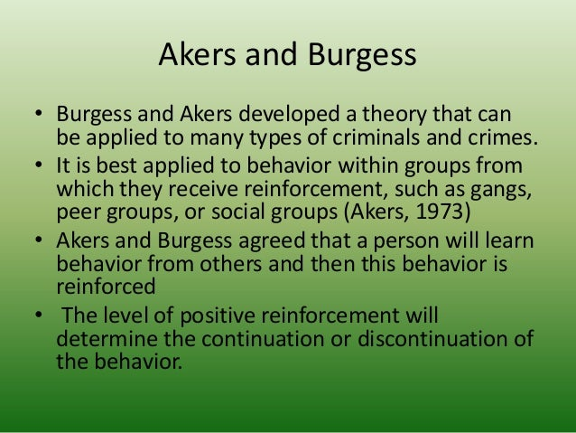 ronald akers social learning theory crmj powerpoint