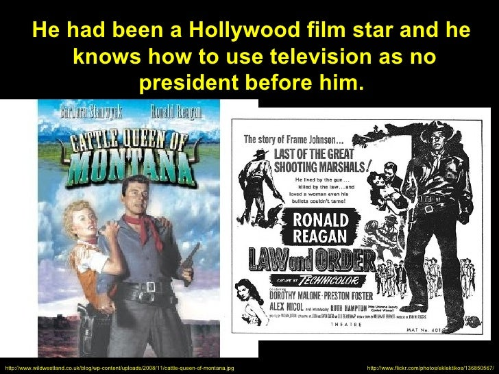 He had been a Hollywood film star and he             knows how to use television as no                   president before ...