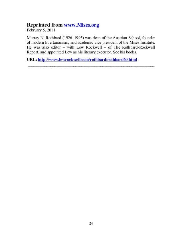 essay murray in document rockwell rothbard rothbard
