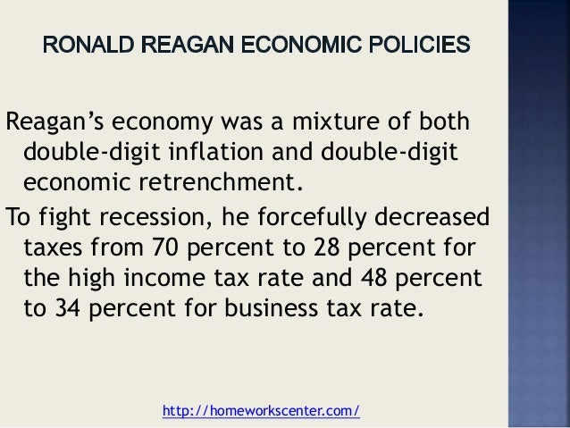 ronald reagan economic policy essay An essay on ronald reagan and whether or not he's the hero folks make him out to be an essay on ronald reagan and whether or not.