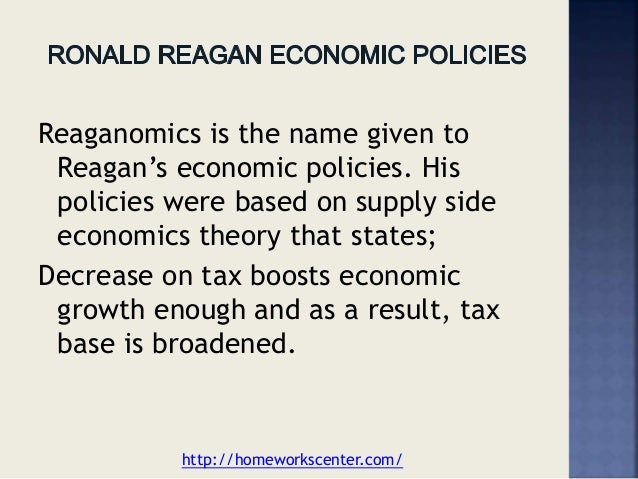 reaganomics essay Ronald reagan, actor: the killers ronald reagan had quite a prolific career, having catapulted from a warner bros contract player and television star, into serving.