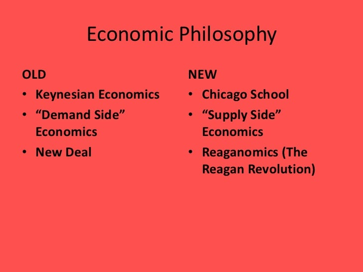 a comparison of the keynesian economics and the supply side economics Keynesian economics the term keynesian is sometimes used to refer to  economists who advocate active  rational expectations supply-side  economics  upon the difference between the actual price level and the  expected price level.