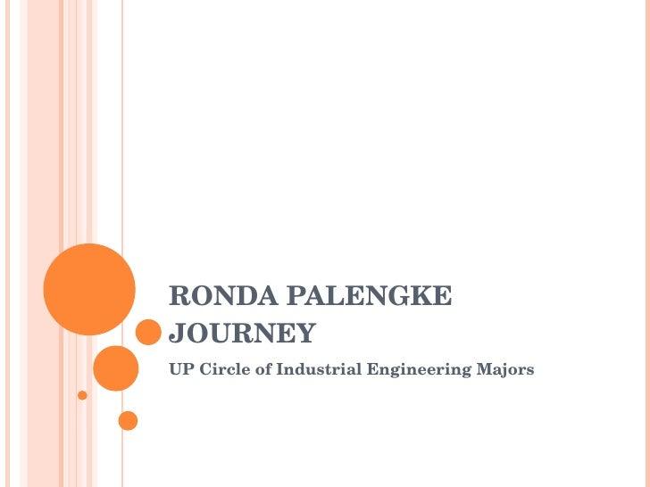 RONDA PALENGKE JOURNEY UP Circle of Industrial Engineering Majors
