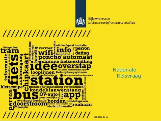 Nationale                   Reisvraag25 januari 2013