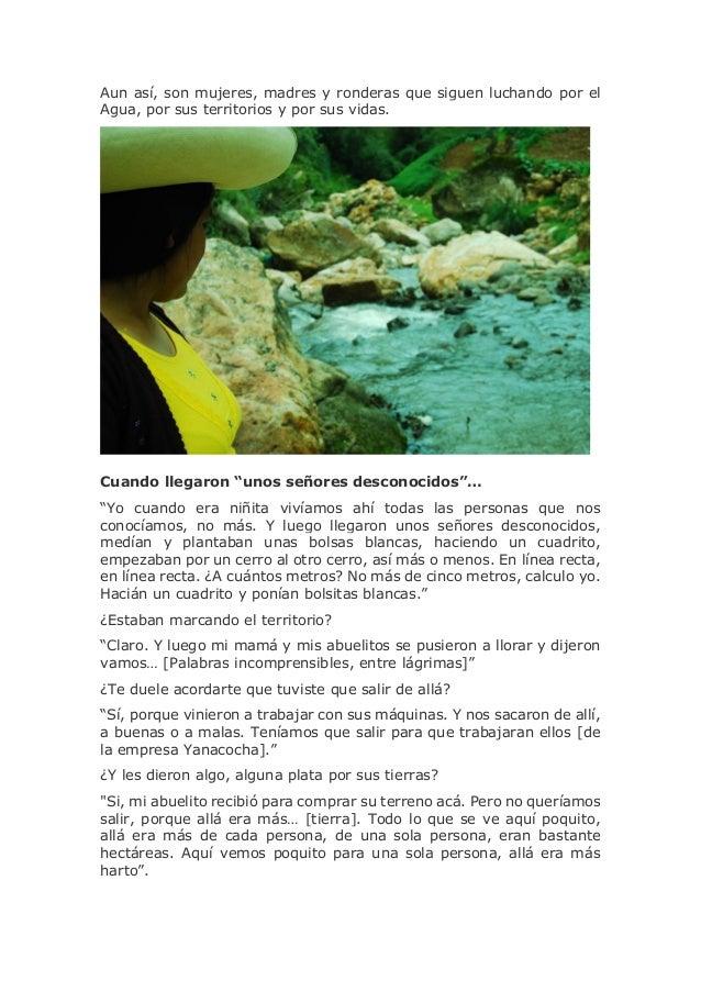 Ronderas resisten a la minería y a la criminalización en defensa de l…