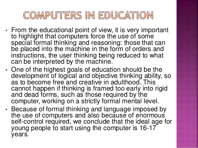 Educational computer games thesis