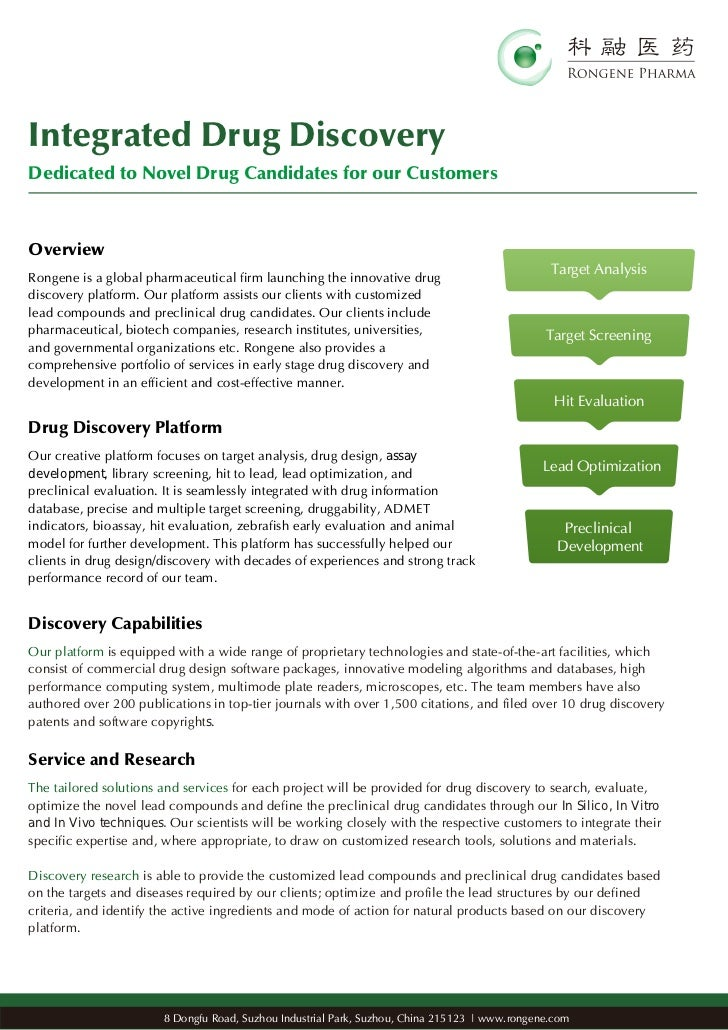 Integrated Drug DiscoveryDedicated to Novel Drug Candidates for our CustomersOverview                                     ...