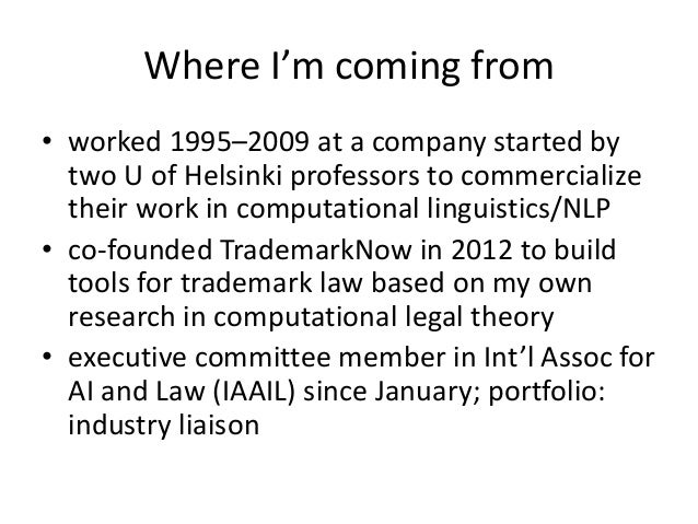 Commercializing legal AI research: lessons learned Slide 2