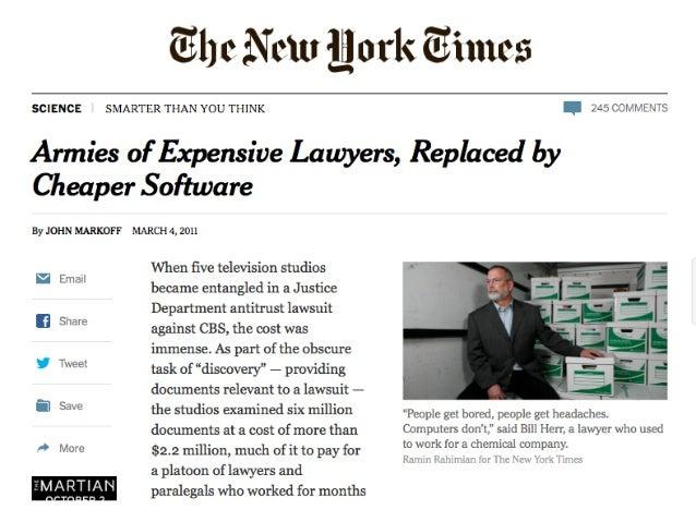Tietokone korvaa juristin – vai korvaako? Slide 3