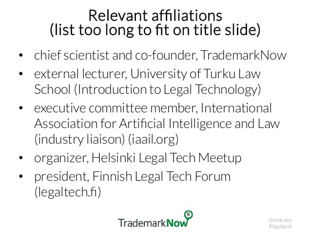 AI in legal practice – the research perspective Slide 2