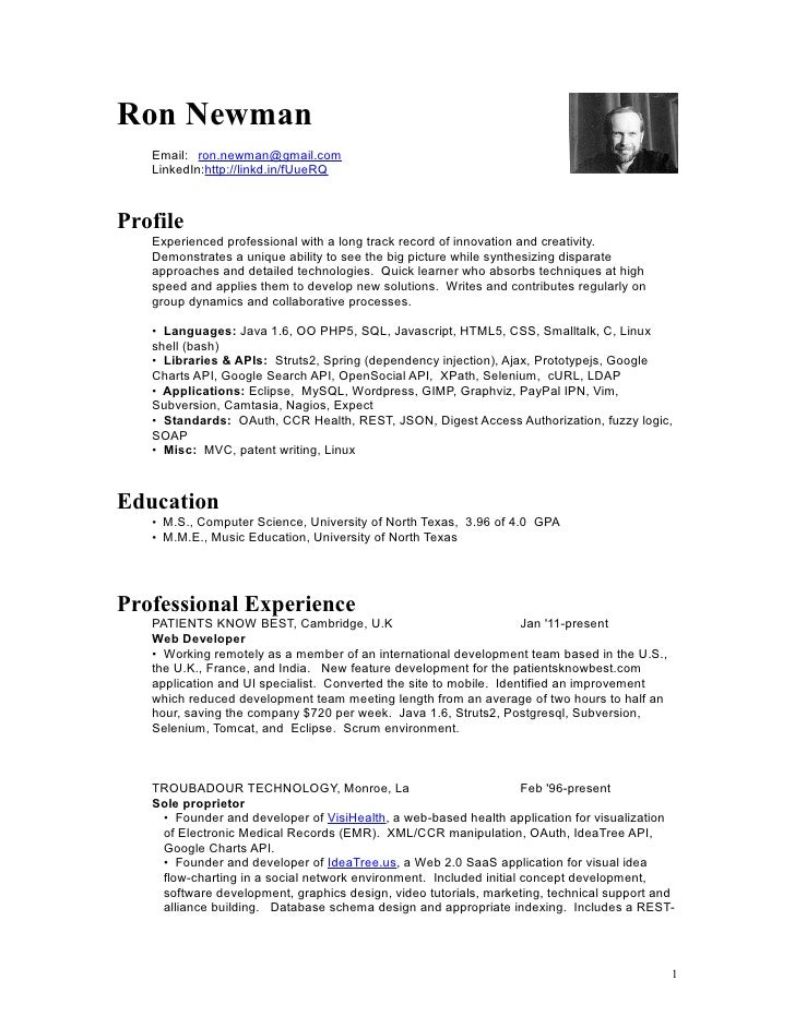newman resume t